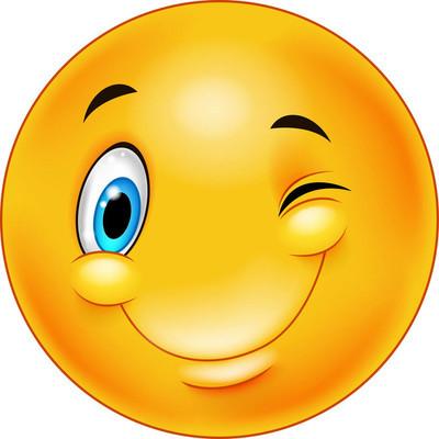 可爱的微笑和眨眼的图释图片