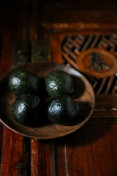 chinese green rice ball in Qingming Festival