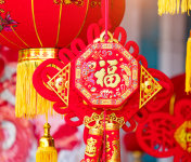 Red lanterns for chinese new year decoration