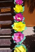 Paper lotus in Ghost Festival