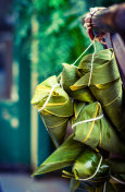 Zongzi, Traditional Chinese Rice Dumplings for Dragon Boat Festival