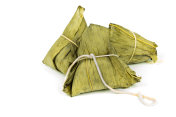 Zongzi or Traditional Chinese Sticky Rice Dumplings for Duanwu or Dragon Boat Festival
