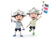 Happy boys on children's day in Japan