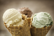 Vanilla, Chocolate and Pistachio Ice Cream