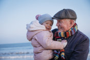 Grandfather with his Granddaughter on the Coast