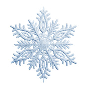 Snowflake on a white background