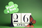 Arbor Day, plant a tree on April 26 calendar