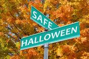 Safe Halloween Street Sign