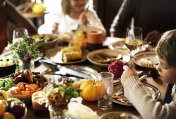 Friends and families are gathering on Thanksgiving day together