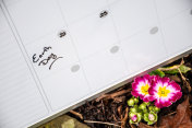 Earth Day on Calendar with Flowers