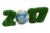 Earth Day 2017 concept, 3D rendering isolated on white background