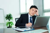 Businessman is thinking in office