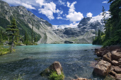 Joffre Lakes in summer, BC, Canada