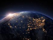 Earth night space