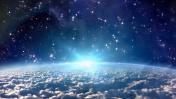 earth lens flare light