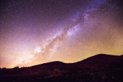Mauna Kea Milky Way Night Sky Mountain Silhouette Kona Hawaii
