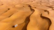 Aerial View of Desert safari