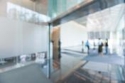 Defocused Office Building Lobby Background