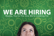 WE are hiring employment recruitment concept