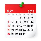 May 2018 - Calendar