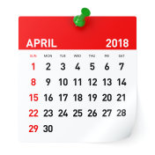 April 2018 - Calendar