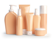 Set of cosmetic products.  Cosmetic series of  beauty care products