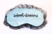 Sleep mask on white Sweet dreams