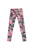 colorful jeans pants with flower print