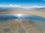 Aerial View Solar Thermal Power Plant Station