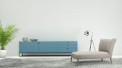 Minimalist modern interior living room
