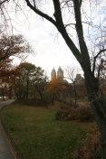 Walking clock wise around Jacqueline Kennedy reservoir in  New York City Central Park