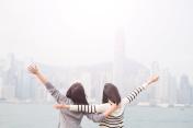 two woman feel free