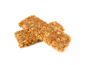 Cereal bars or flapjacks made from rolled oats