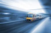Sydney city traffic, train