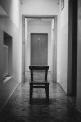 Chair in corridor
