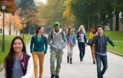 Students Walking Through The Park