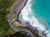 Aerial Great Ocean Road