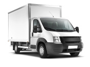 Delivery Van (isolated with clipping path)