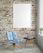 Interior hipster blank picture poster frame template
