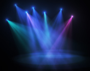 Dim and colored stage lighting
