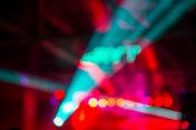 Defocused lights on concert stage