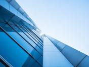 Architecture details Modern Building Glass facade design