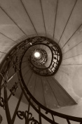 Spiral stairs (sepia)