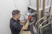 Hvac Repairman motor installation