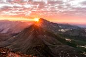 Sunrise from Wetterhorn Peak, Colorado Rocky Mountains USA
