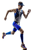 triathlon iron man athlete runners running