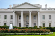 White House North Facade Lawn Washington, DC in 4k/UHD