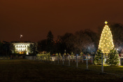 THe White house and the National Christmas Tree