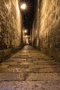 Narrow Stone Walkway in Night time