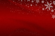Abstract Red Christmas Snowflake Background with Stars